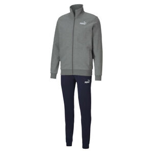 PUMA Herren Clean Sweat Suit Trainingsanzug Jogginganzug 583598 grau