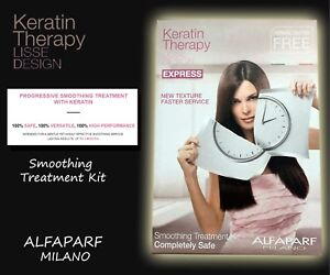 """ALFAPARF LISSE DESIGN KERATIN therapy EXPRESS smoothing treatment  kit. """"NEW"""""""