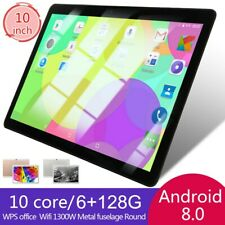 "10"" Inch Tablet PC 6+128G Dual SIM Camera WiFi GPS G-Sensor Android 8.0 Phablet"
