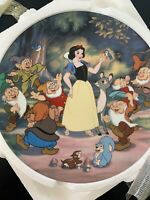 Walt Disney Snow White And The Seven Dwarves Plate #2 Knowles Vintage
