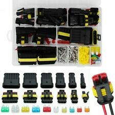 240Pcs 1-6 Pin Waterproof Car Auto Electrical Wire Connector Plug + Blade Fuses