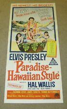 Elvis Presley Paradise Hawaiian Style Window Card Original 1966 Australian