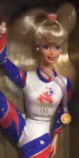 1996 Olympic Gymnast Barbie doll blonde NRFB Atlanta