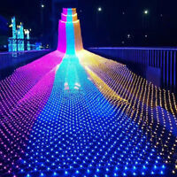 96/200/880 LED Fairy Net Mesh String Fairy Lights Festival Wedding Party Decor