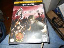 Resident Evil 4 (Nintendo GameCube, 2005) Black Label Complete 2 DISC NO MANUAL