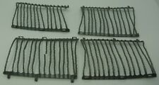 Gray Plastic Barbed Wire Curved Panels - Lot of 4