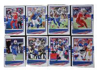 2020 Donruss Buffalo Bills Veterans Base Team Set of 8 Football Cards