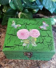 Pink Peony Wood Essential Oil Box, Essential Oil Safe, Essential Oil Storage