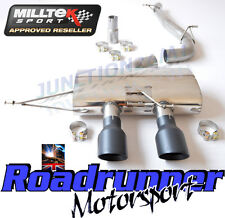 "Milltek Golf R MK6 Cat Back Exhaust 3"" Race System no Valve Non res BLK SSXVW217"