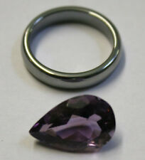 NATURAL LOOSE AMETHYST GEMSTONE 17X11MM GEM 7CT FACETED PEAR AM53