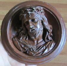 Tondo Napoleone III - scultura in caolino - arte sacra- Cristo - Mattei