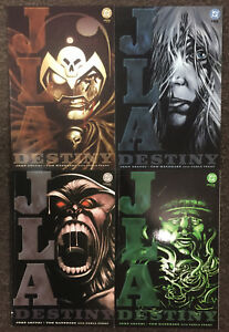 JLA Destiny 1 2 3 4 DC Complete Set Justice League of America Arcudi Mandrake NM