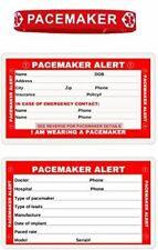 Pacemaker Silicone Bracelet and Laminated Pacemaker Emergency Wallet Card