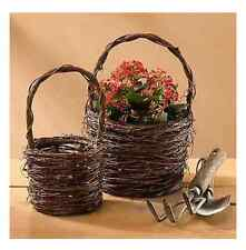 Vine Twig Baskets Set of 2 Wild Wings Bouquet and Company 4181074100