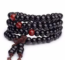 Black Sandalwood 108 6MM Buddhist Prayer Bead Mala Necklace/Bracelet