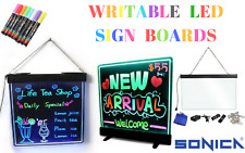 Writeable Led Sign Shop Window Display Open Welcome Sign Hanging Door Bright NEW