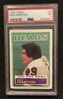 1983 Topps Football #30 Dan Hampton PSA 7 Near Mint NM Chicago Bears