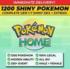 Pokemon Home FULL SHINY LIVING DEX, Gen 1-7 | 250 Event, ALL Legendary, 6IV, M+F