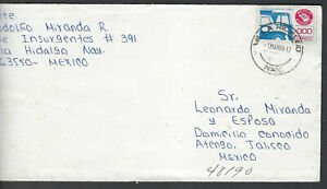 1988 MEXICO EXPORTA STAMP ON  FAMILY LOCAL  COVER   (EXP77)