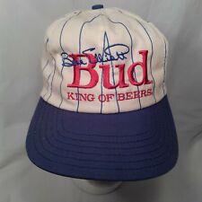 Bill Elliott Budweiser Hat Bud King of Beers Winston Motorsport Trucker Cap Used