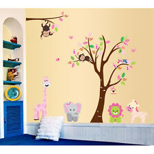 Animals Jungle Tree Monkey Owl Wall Decal Stickers Kids Baby Nursery Room  Decor Part 77
