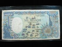 EQUATORIAL GUINEA 1000 FRANCS 1985 94# Currency Bank Money Banknote