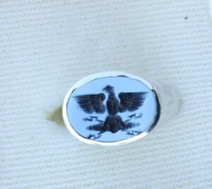 Solid Roman Style Silver Signet Seal Intaglio Ring