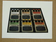 g/ handmade greetings card w music theme DOD EFFECTS PEDALS
