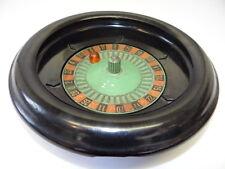 Vintage Used Metal Plastic ES Lowe Gambling Casino Game Small Roulette Wheel