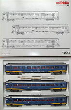 NS 3 piezas Vagón Expreso Set Inter City plus Märklin 42643 H0 1:87