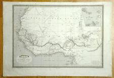 COTE OUEST DE L'AFRIQUE Carte geographique ancienne antique old map MONIN 1837