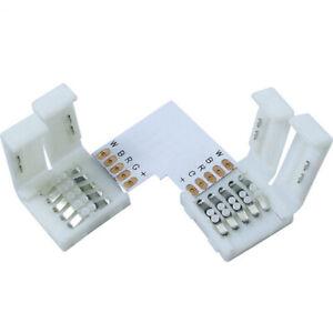 DC12V L shape 90 corner adapter Easy Connector For Led Strip rgbw 5050 10mm 3PCS