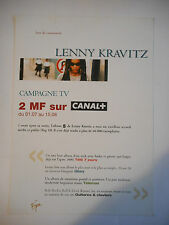 ▓ PLAN MEDIA ▓ LENNY KRAVITZ ( CAMPAGNE TV )