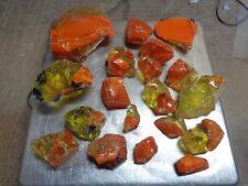 Glass Rock Slag Pretty Orange/Yellow/Blue 5.2 lb Rocks Rr80 Landscaping Aquarium