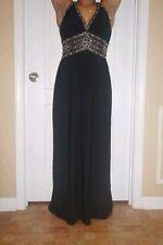Cicci Women's Black Sleeveless Full-Length Rhinestone Evening Gown Size XL
