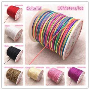 10M 0.8mm Nylon Cord Thread Chinese Knot Macrame Cord Bracelet Braided String