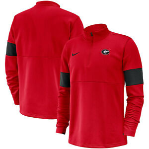 Nike Mens Georgia Bulldogs Therma Coaches Sideline Half-Zip Jacket Large NWT $85