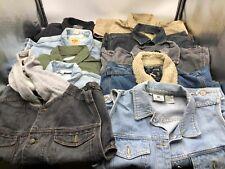 Bulk Clothing Lot: 10 Jacket Men Various Vintage Denim Size Large/Extra Large