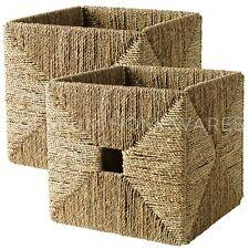2 X Ikea KNIPSA jonc de mer de Rangement Cube boîtes 32x33x32cm (pour KALLAX)