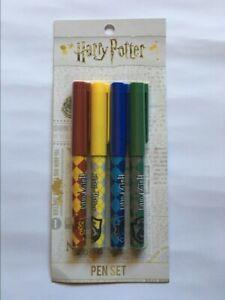 ~ HARRY POTTER ~ Pen Set ~ Hogwarts Houses ~ Gryffindor / Slytherin~ BRAND NEW ~