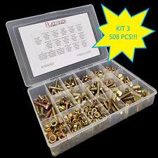 Grade 8 Hex Bolt Washer/Nut Assortment Yellow Zinc (508) Pcs. Coarse Thread