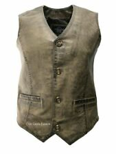 Mens 5226 Dirty Brown Made from Soft Leather For any Occasion Classic Waistcoat