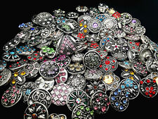 wholesale 50pcs mix style 18mm Buttons copper alloy rhinestone Snap for bracelet