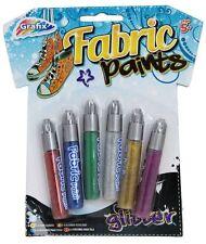 Grafix Arte Textil Pintura De Tela Plumas Set De 6 ~ brillo