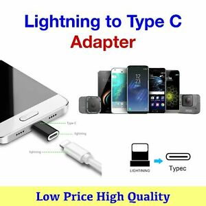 8 Pin to USB Type C Adapter Data and Charging For Apple iPhone Cable to Samsung