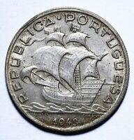 [Lot 1378] Coin, Portugal, 5 Escudos, 1943, gEF, Silver, KM# 581