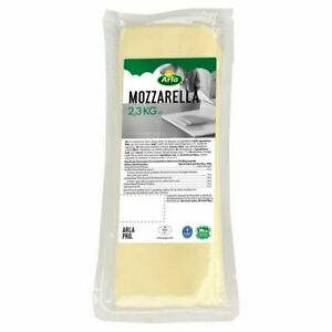 Mozzarella Cheese Block 2.3kg Arla Pro Free and Fast Next Day Delivery UK