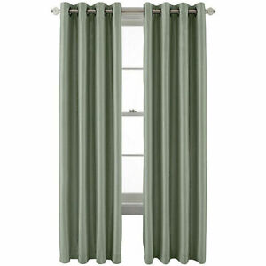 NWT $160 JCPENNEYEVENING SAGE ENERGY SAVING GROMMET TOP CURTAINS 50X84 (1 PAIR)