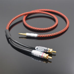 Monster Audio Cable Stereo 3.5mm male to 2 RCA Gold Plated for MP3 CD DVD HDTV