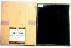 "38. Johnson Darkroom Safelight Filter - 8""x10"" -  Series 8/3  Dark Green"